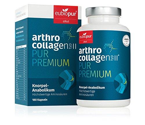 Arthrocollagen Typ 2, VEGAN, Kollagen Typ2, Prolin und Hydroxy-Prolin echte Knorpelanabolika, 180 Kapseln, deutsche Premiumprodukt