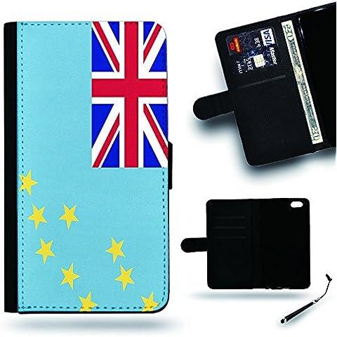 Per Cellulare Negozio//2016Coppa Coppa del Mondo Case Cover Protezione Completa Custodia a portafoglio in pelle Slot per Apple Iphone 6Iphone 6s iPhone6/iphone6s/Tuvalu Bandiera
