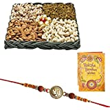 Rakhi Dry Fruits For Brother With Greeting Card 1331