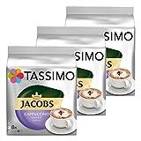 Tassimo Jacobs Cappuccino Choco, Kaffee, Milchkaffee, Kakao, Schoko Geschmack, Kapsel, 24 T-Discs