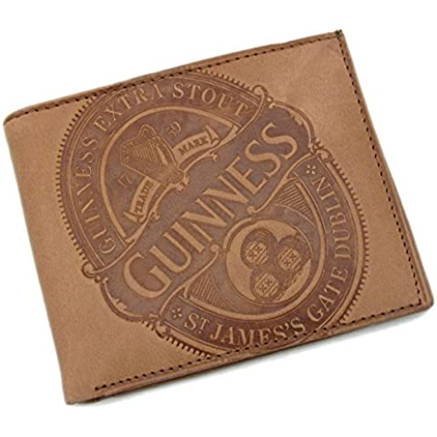 Guinness Collectors Edition 2016 - Black Leather Credit Card & Notes Wallet With Label Print