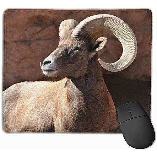 Mâle Mouflon Mouflon Ram Grandes Cornes Animal Tapis de Souris Rectangle Antidérapant en Caoutchouc Tapis De Souris Gaming Tapis de Souris