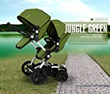 Fashion Highview Twins Stroller, Stroller Twins, Double Stroller, Folding Baby Stroller for 2 Children, Double Seats Pram, Bidirectional Pushchair, 4 Wheels Suspension (GREEN) immagine