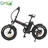 "Free Shipping 48V 500W 8Fun/Bafang Hub Motor 20"" Ebike Mini Folding Fat Tire Electric Bicycle with 48V 12.5AH Lithium Battery"