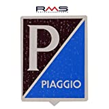Emblem Piaggio alt für Vespa Sprint/VBA VBB etc. - Aluminium, selbstklebend 34x47 mm