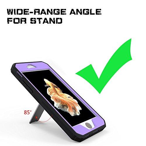 Coque iPhone 6S Plus, iPhone 6 Plus, J&D [Double Couche] Coque de Protection Robuste Antichoc et Hybride pour iPhone 6S Plus, iPhone 6 Plus - Violet Violet