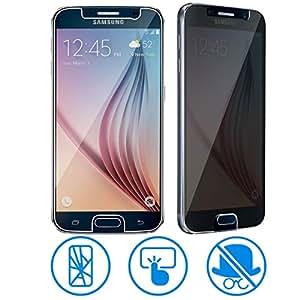 Avizar - Film Protection Verre Trempé 0.3mm - Anti-Explosion / Anti-Espion - Samsung Galaxy S6 - Transparent