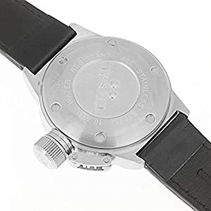 TW Steel Unisex Quartz Watch with Grey Dial Analogue Display and Black Leather Strap TW944