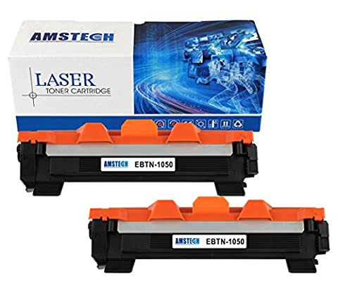 2 Pack Amstech Compatible Black Toner cartridge Replacement for Brother TN-1050 TN1050 Standard Yield (1000 Pages)