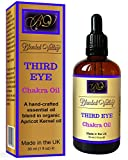 Chakra Oil THIRD EYE- Rosemary and Patchouli Essential Oils in Apricot Kernel Oil. For Aromatherapy Diffuser, Incense Burner, Vaporiser or Humidifiers. Use During Yoga, Meditation to Awaken Intuition