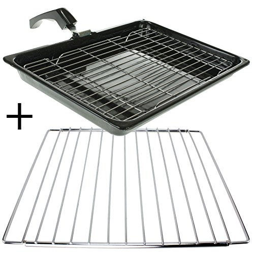 spares2go-large-grill-pan-rack-handle-adjustable-shelf-for-fisher-paykel-oven-cookers