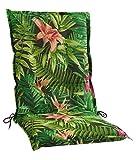 Sesselauflage Sitzpolster Gartenstuhlauflage für Mittellehner BENIGNUS 5 | B 50 cm x L 110 cm | Mehrfarbig | Baumwolle | Polyester