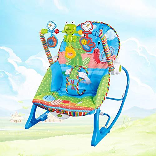 Bébé La Musique Apaiser Choc Fauteuil à Bascule, Enfant Multifonction Électrique Balançoire Chaise de Berceau, Angle de Dossier Réglable Bébé Chaise Longue