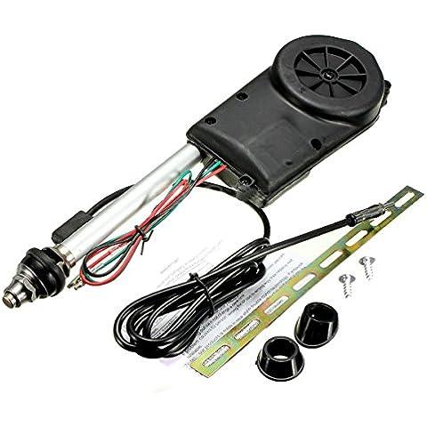 Conjunto de antena - TOOGOO(R)Conjunto de antena electrica de propulsion automatica de radio de coche negro