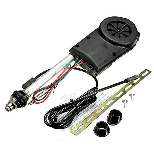 Auto Antenne - SODIAL (R) Auto Elektrik Luft Radio Automatische Booster Leistung Antenne Set Schwarz