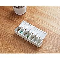 GOOTUOUOU Gootuouu Pillendose für 7 Tage, Polypropylen, White,White, 13x3.1x2.3cm preisvergleich bei billige-tabletten.eu