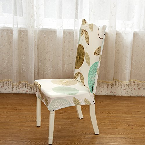 High Elastic Simple Chair Cover Chair Slipcover for Dining Chair Computer Chair Armless Chair Stretch Print Chair Cover, M pack of 2