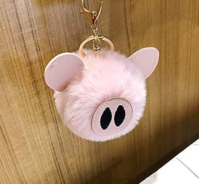 WYBL Juguetes De Cerdo para Niñas Niños Cumpleaños Regalo Colorido Suave Peluche Animal Mochila Cerdo Llavero Colgante Muñecas 12 Cm Rosa Claro de WYBL