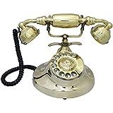 AntiqueMart Metal Gandhi LANDLINE Phone Golden Touch Full Finishing