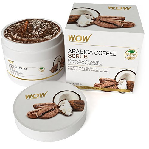 WOW Arabica Coffee No Parabens & Mineral Oil Scrub, 200mL