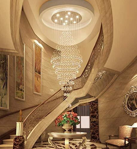 Decke Anhänger-beleuchtung (GCCI Zeitgenössische Kristallleuchter Decke Anhänger Led Lichter Moderne Kronleuchter Home Beleuchtung Led Lampen Kronleuchter Ausgesetzt ',40 * 100 cm)