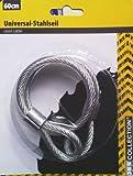 JES COLLECTION® Universal-Stahlseil / Vorhängeseil - Flexibles Schlaufenseil Ø 5 mm x 60 cm verzinkt, kunststoffummantelt