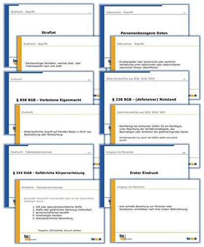 SecApp-Original - 34a Karteikarten Private Sicherheit: Lernkarten zur Vorbereitung auf die IHK-Prüfungen im Bewachungsgewerbe