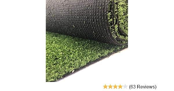 200x450 cm wasserdurchl/ässig verschiedene Gr/ö/ßen mit Drainage-Noppen Rasenteppich Kunstrasen Premium gr/ün weich Meterware