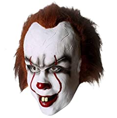 Idea Regalo - Yacn Maschere in lattice clown Pennywise IT da adulti per feste party halloween