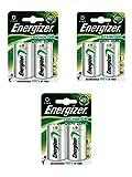 3 X Energizer Plus Power D 2500mAh Größe 1,2 V wiederaufladbare Batterie HR-FABSPOWER 20-7638900138757