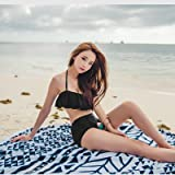 Ich wäre Ihnen dankbar, wenn Sie mir hätte das Mädchen Bademoden Badeanzug_leaf Edge-of-generation Komfort Bikini mit hoher Taille schwarz, XL bkini,