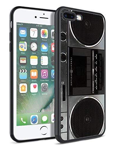 matcase für iPhone 7Plus Fall iPhone 8Plus Fall-Vintage Boombox Hard Klar Transparent Anti Kratzfestigkeit mit vollständiger Schutz TPU Bumper Design-Schutzhülle Vintage Hard Rubber