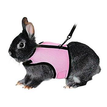 UEETEK Harnais souple avec plomb pour lapins Bunny Little Pets - Taille L (Rose)