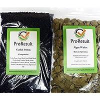 Prorezult 6% Spirulina Algas Wafers 200 g PLUS Pleco Cichlid Catfish Pellets 200 g. Pack de cada alimento. Valor fantástico. Algas Eater y parte inferior de la alimentación de peces