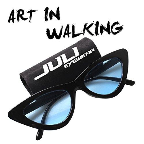 dbea9e3a2c JULI Cateye lunettes de soleil mode pour les femmes rétro vintage lunettes  d'influence mod