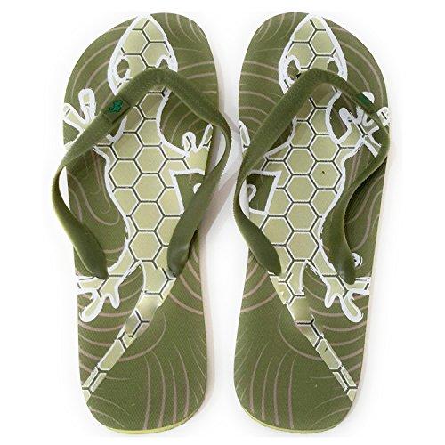Flip Flops Herren Dusch Badeschuhe und Sommer Strandschuhe, Angenehm zu Tragen. Verschiedene Modelle und Farben Salamander Olivgrün