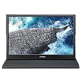 JOHNWILL Écran Portable 11,6 Pouces Ultra HD 1920 x 1080 IPS LCD/LED Écran Portable HDMI VGA Port Haut-Parleur intégré Boîtier en métal Noir
