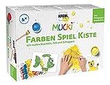 Mucki 29102 - Farben Spiel Kiste Wir Malen Stacheln, Fell und Schuppen, Mehrfarbig