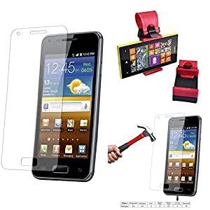 Qualitas Pack of 6 Tempered Glass for Micromax Yuphoria + Car Steering Holder
