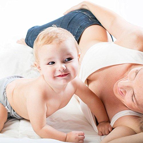 Umstands-BH zum Stillen - Bugelloser und Ultra-weicher Schlaf-BH fur Schwangerschaft aus Biobaumwolle von Kindred Bravely Weiß
