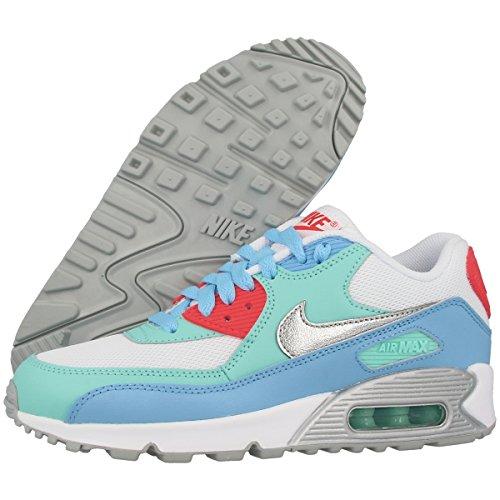 Nike Air Max 90 Mesh (GS) Women Schuhe white-metallic siver-lakeside-artisan teal – 38 - 3