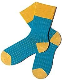 Bunte Socken - Rippenmuster - Lemon Drop - GOTS zertifiziert - aus feinster Bio Baumwolle - Komfortbündchen