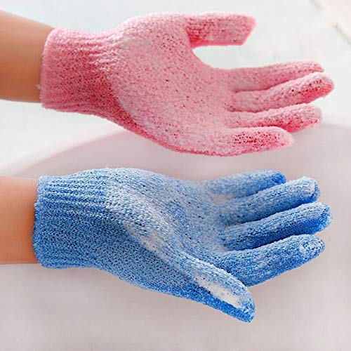 Beauty & Health Good Nylon Bath Exfoliating Glove Body Skin Cleansing Peeling Scrubber 3 Pairs Five Finger Gloves With 3 Pairs Full Finger Gloves To Produce An Effect Toward Clear Vision