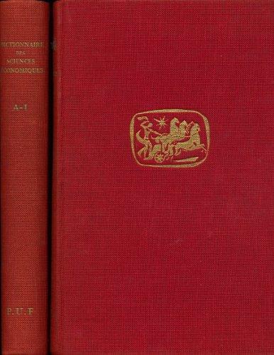 Dictionnaire des sciences économiques (complet en 2 tomes) - Publié sous la direction de Jean Romeuf