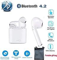 Oreillettes bluetooth Casque Bluetooth sans Fil Écouteurs stéréo antibruit pour iPhone, Samsung, Huawei, Xiaomi, PC