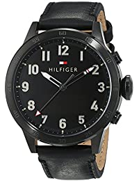 Tommy Hilfiger Herren-Smartwatch Casual Sport Analog - Digital Quarz Leder 1791296