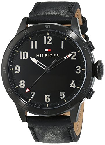 Smartwatch analógico con pantalla digital para hombre Tommy Hilfiger 1791301, mecanismo de cuarzo, correa de piel.