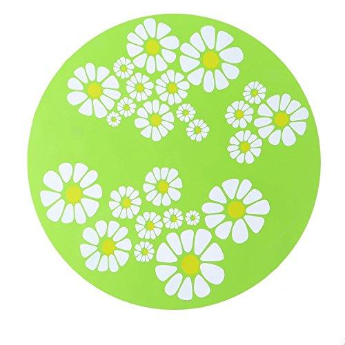 POPETPOP Große Größe Durable Silikon Kreis Rutschfeste Hitzebeständige Hot Pads Coaster Kissen Tischset Topflappen Matte (grün)