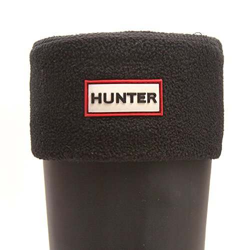 Hunter cortos S3011-ABLK Negro - Calcetines de forro polar para botas de agua corta, color: negro