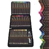 72 Meilleur Crayons de Couleurs Outils à dessin,Sets de dessin crayon de bois en Zipper Pencil Case-Coffret de kit dessin professionnel crayon couleur-Cadeau Ideal pour Enfants, Adultes et Artistes.